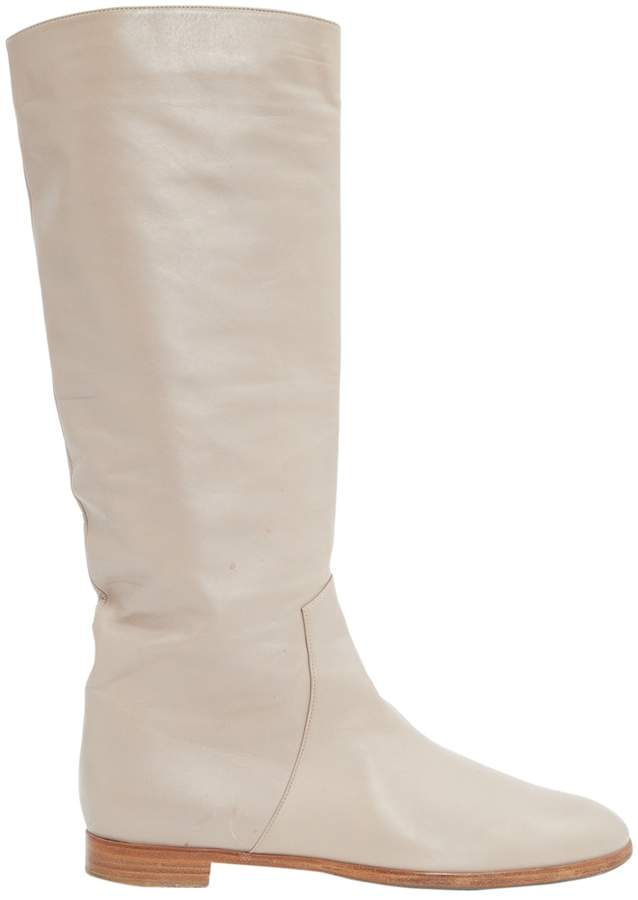 Sergio Rossi Beige Leather Boots