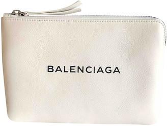 Balenciaga Everyday White Leather Clutch bags