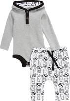 Nordstrom Hooded Bodysuit & Milk Print Pants Set