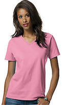 Hanes Relax Fit Jersey V-Neck Tee 5.2 oz (Set of 4) (Women's)