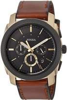 Fossil Men's FS5322 Machine Chronograph Light Leather Watch