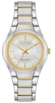 Citizen Eco-Drive Polished Two-Tone Stainless Steel Bracelet Watch