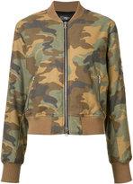 Amiri - camouflage print bomber jacket - women - Cotton - S