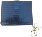 Christian Dior Lady Navy Patent leather Wallets