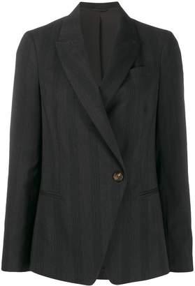 Brunello Cucinelli striped single button blazer