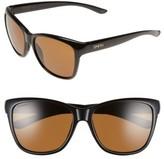Smith Women's 'Ramona' 56Mm Chromapop Polarized Sunglasses - Black/ Polarized Brown