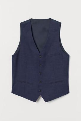 H&M Slim Fit Suit Vest - Blue