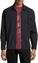 Diesel S-Nigel Zip-Front Shirt Jacket, Black