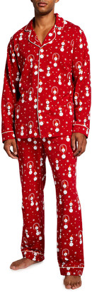 Bedhead Pajamas Men's Classic Snowman-Print Pajama Set
