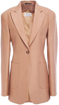 Maison Margiela Wool And Silk-blend Blazer