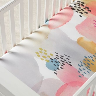 west elm Organic Lexi Crib Fitted Sheet - Pink