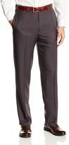 Haggar Men's Micro Two Tone Plaid Straight Fit Plain Front Dress Pant