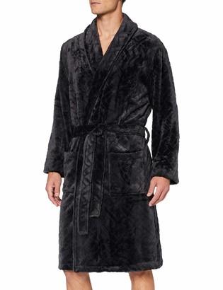 Hom Men's Shadow Fleece Robe Bathrub