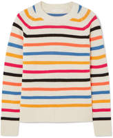 Chinti and Parker Striped Cashmere Sweater - Pink