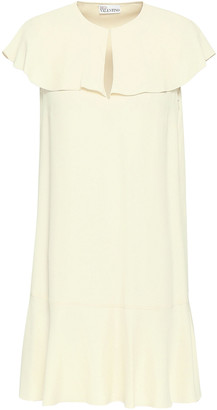 RED Valentino Ruffled Satin-crepe Mini Dress