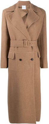 Agnona Double-Breasted Belted Coat