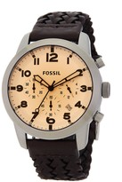 Fossil Men's Grant Chronograph Braided Leather Strap Watch
