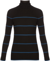Fendi Striped roll-neck wool sweater