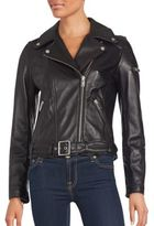 7 For All Mankind Long Sleeve Leather Jacket