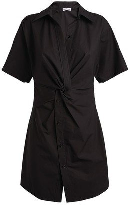 Alexander Wang Twist-Detail Mini Shirt Dress