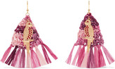 Rosantica Gold-tone, Raffia And Enamel Earrings - Fuchsia
