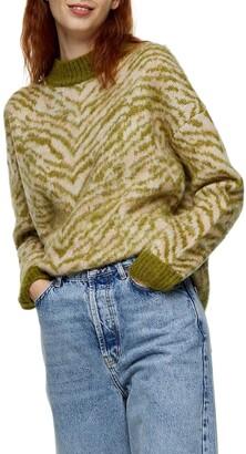 Topshop Tiger Stripe Sweater