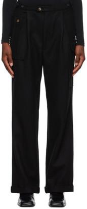 Winnie New York Black Pleated Pocket Trousers