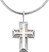 Black Hills Cross Pendant with Chain Sterling/12K Gold