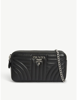 Prada Diagramme quilted leather crossbody bag