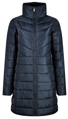 Dorothy Perkins Womens Navy Long Padded Jacket With Recycled Wadding