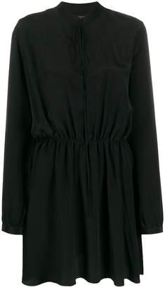 Amiri silk crepe blouse dress