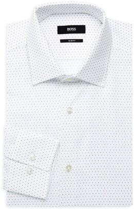 HUGO BOSS Jenno Slim-Fit Logo Print Dress Shirt