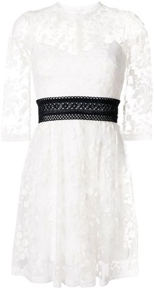 Three floor Weiss lace mini dress