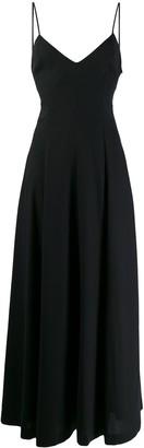 AMI Paris Wide V-Neck Maxi Dress