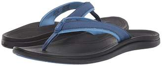 OluKai Punua (Black/Black) Women's Sandals