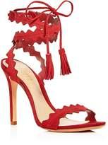 Schutz Women's Lisana Suede Ankle Tie High Heel Sandals