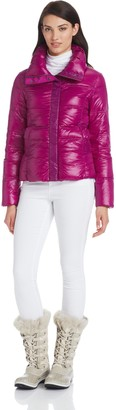 Coatology Womens Contrast Bomber Down Jacket