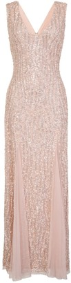 Little Mistress Nude Sequin Maxi