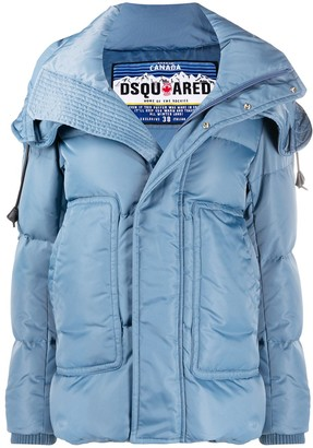 DSQUARED2 Side Pockets Zipped Puffer Jacket