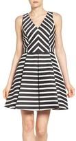Adelyn Rae Women's Gabby Skye Stripe Fit & Flare Dress