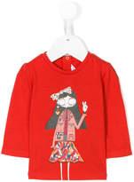Little Marc Jacobs girl print longsleeved T-shirt