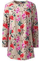 Classic Women's Plus Size Long Jacket-Black Floral