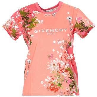 Givenchy Floral Print Logo T-Shirt