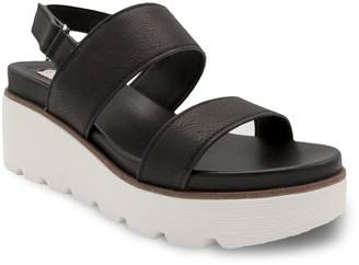Sugar Ukele Two-Band Women's Wedge Sandals