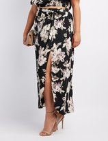 Charlotte Russe Plus Size Floral Maxi Skirt