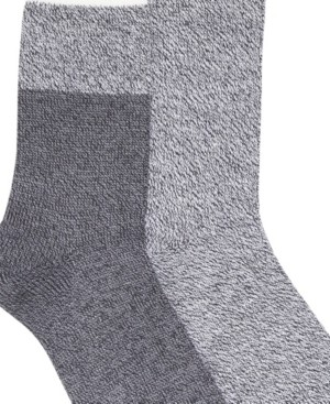 Laundry by Shelli Segal Women's Soft Comfort 2 Pack Solid Ribbed Casual Boot Socks
