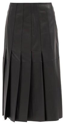 Joseph Semry Pleated Leather Skirt - Black
