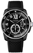 Cartier Calibre De WSCA0006 Men's Black Silicone Automatic Watch