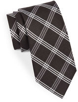 Black Brown 1826 Classic Grid Print Tie