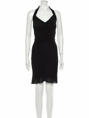 Gucci Halterneck Knee-Length Dress Black